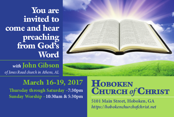 Hear Preaching from the Word of God Hoboken church of Christ